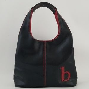 Nine West Red Black Hand Bag Purse Personalized B